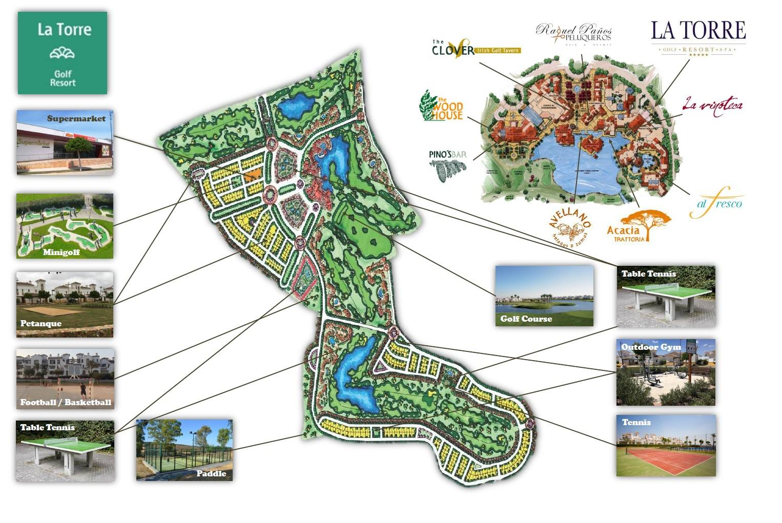 la torre golf map